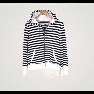 Tommy Hilfiger Striped Cotton Zip Jacket